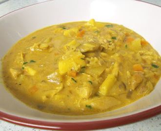 Chicken Mulligatawny soup - with thanks to Jo Cooks