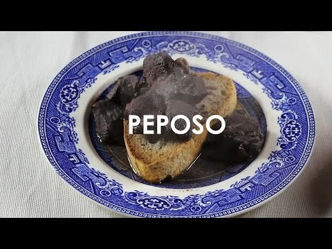 Peposo: Tuscan beef, black pepper, and red wine stew