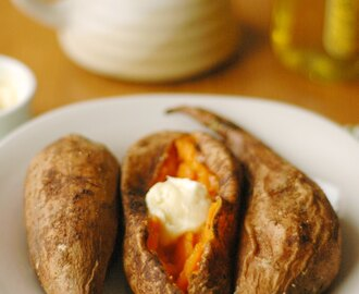 Crockpot Salt and Spice Rubbed Sweet Potatoes