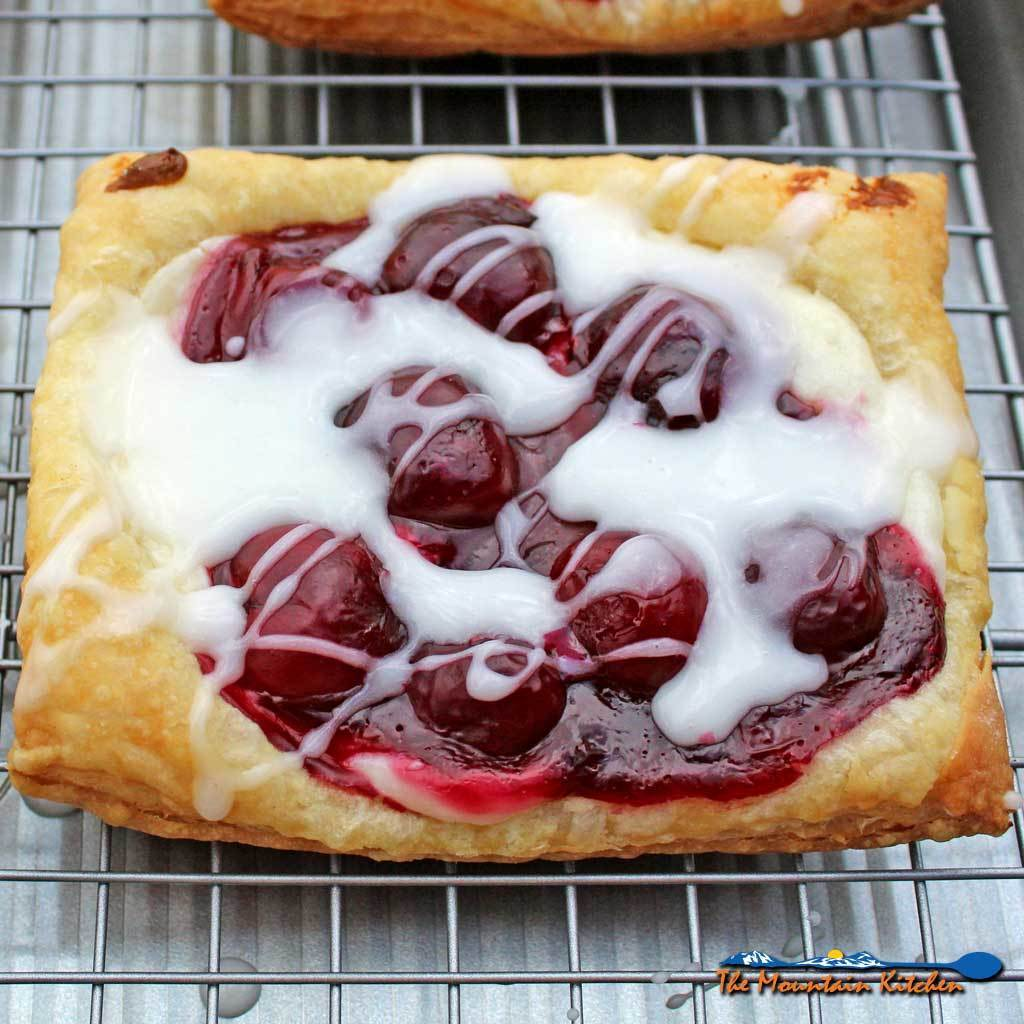 Easy Cherry Cream Cheese Danish With Vanilla Glaze