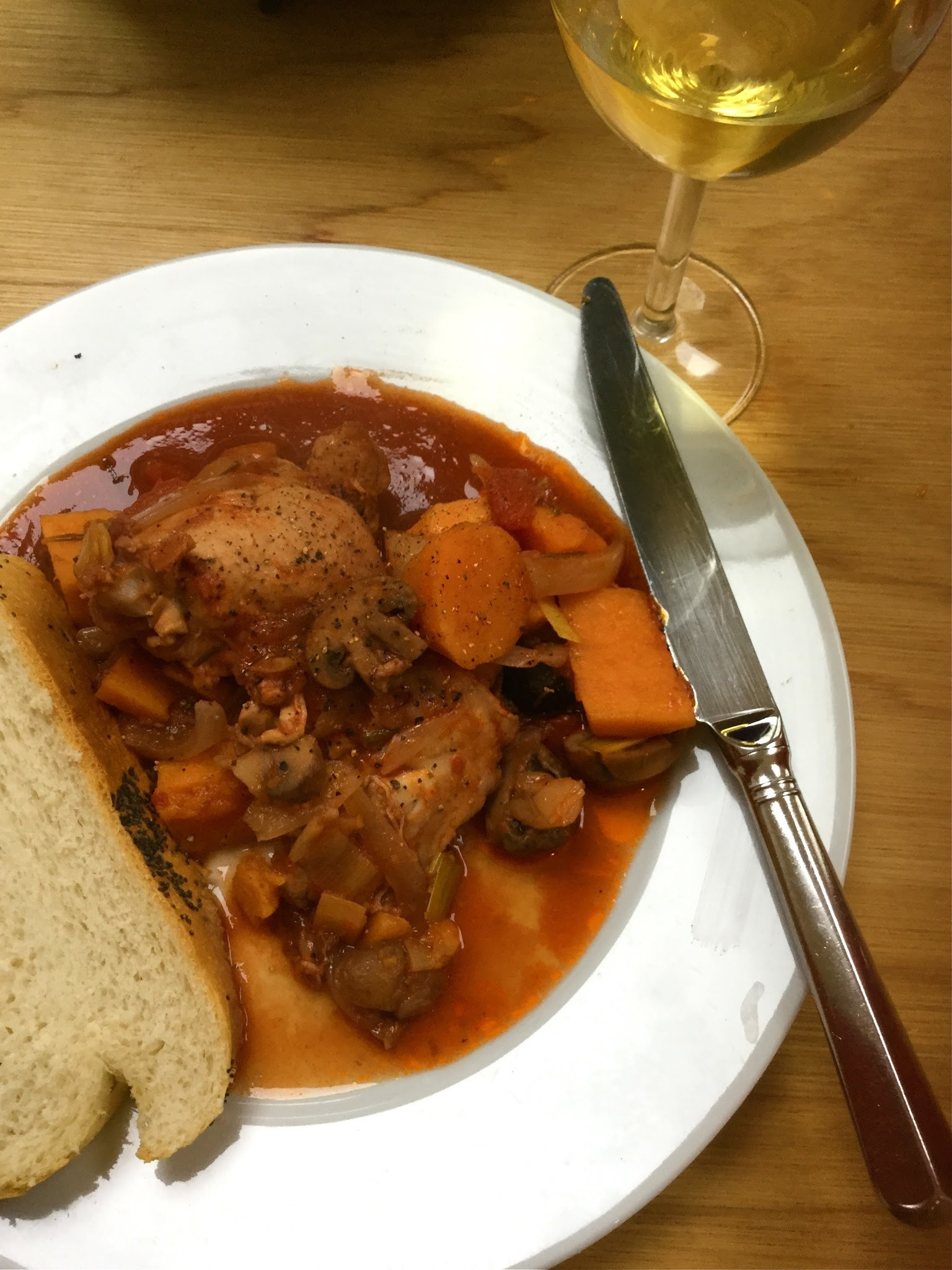 Jamie Oliver's Chicken and Squash Cacciatore