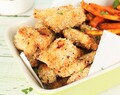 Crispy Baked Chicken with Sweet Potato Fries