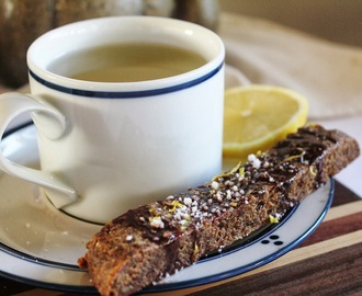 ALMOND BISCOTTI with CHOCOLATE, NUTMEG & LEMON