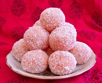 Easy Rose, Coconut, and Cardamom Laddoos
