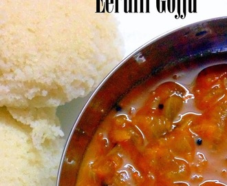 Eerulli Gojju | Onion in Tamarind-Coconut Gravy | Quick Side Dish recipe from Karnataka