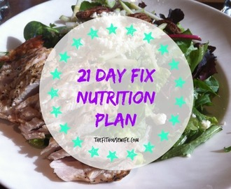The 21 Day Fix Nutrition Plan