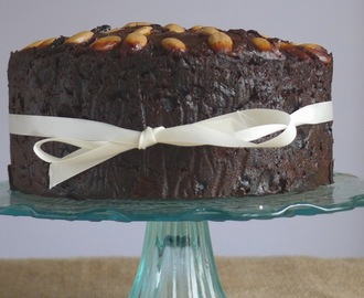 Gluten Free Christmas Cake with Amaretto Soaked Fruit