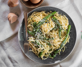 Homemade Broccolini Carbonara