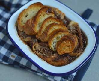 Croissant Chocolate Bread & Butter Pudding