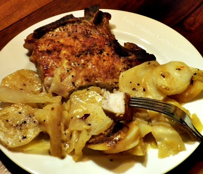Pork Chops with Cabbage and Potatoes