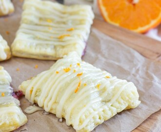 Mini Raspberry Orange Cream Cheese Toaster Strudels