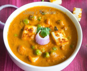 Easy & Quick Matar  / Mutter Paneer - How to make Restaurent Style Matar Paneer