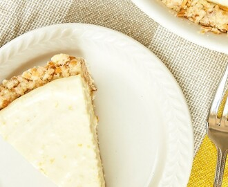 Lemon Icebox Pie with Toasted Coconut Crust