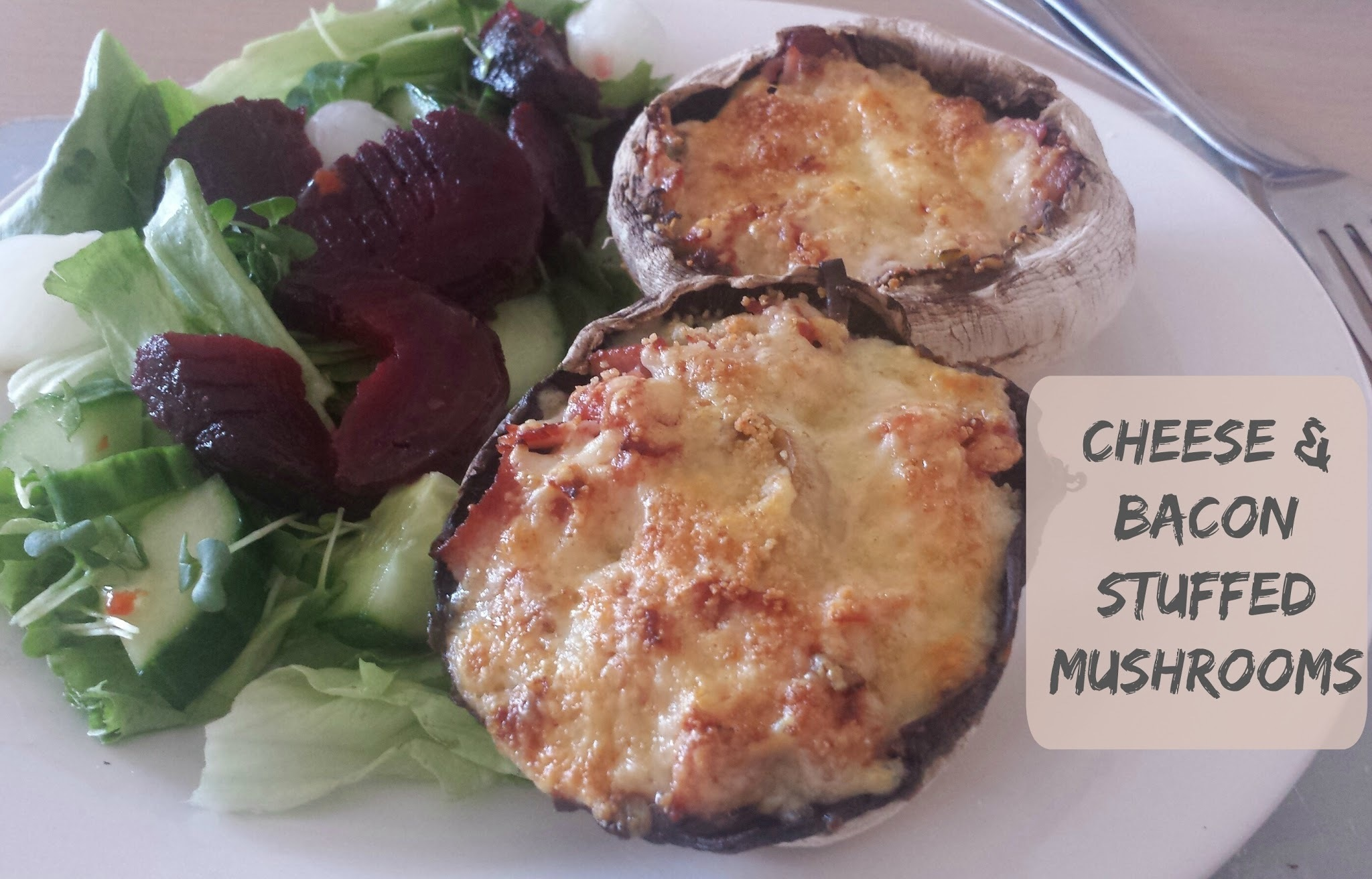 Recipe - Cheese & bacon stuffed mushrooms (#SlimmingWorld friendly)