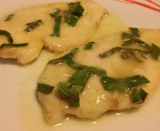 Scaloppine di pollo salvia e limone