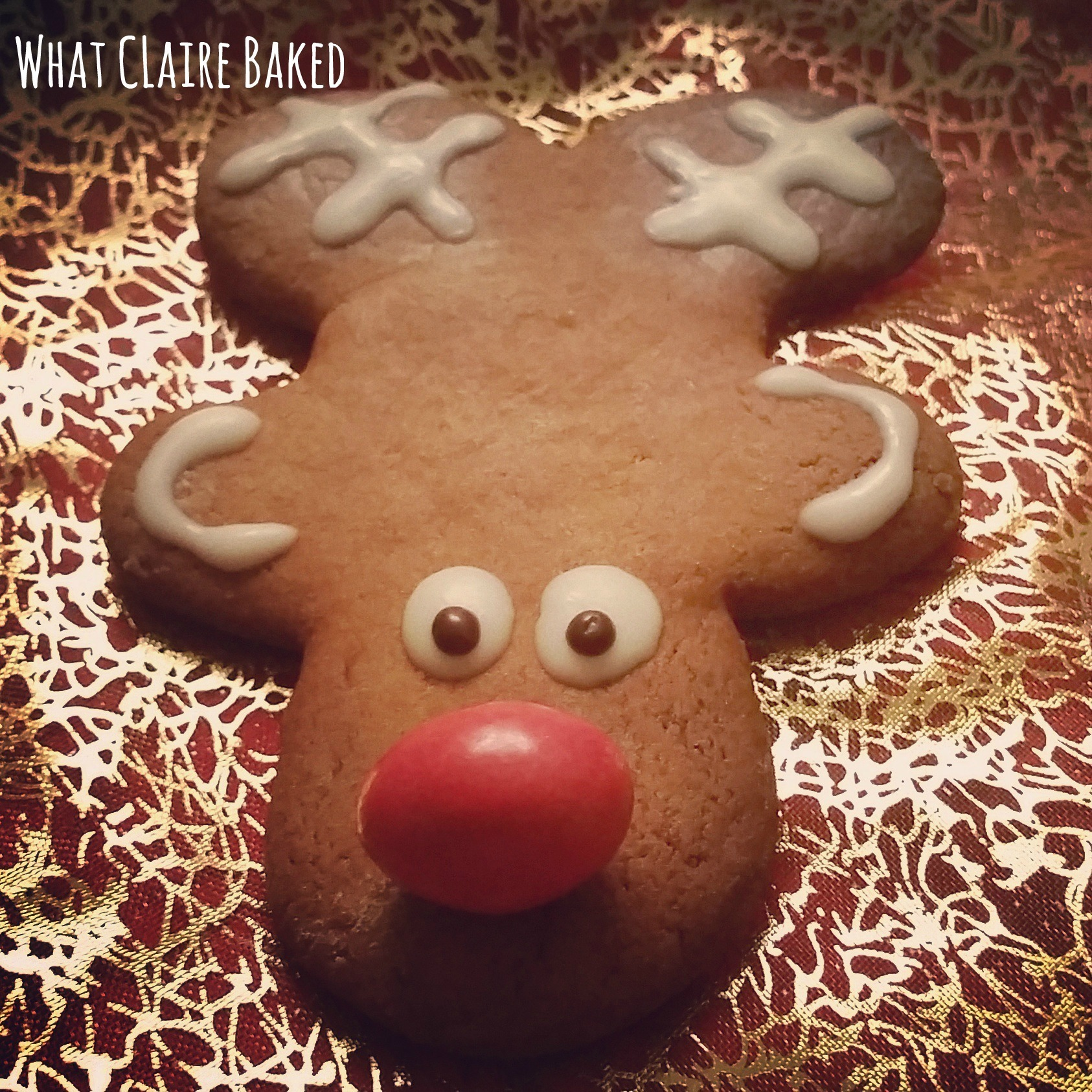 Reindeer Ginger Biscuits