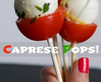 Finger food mania: i caprese pops!