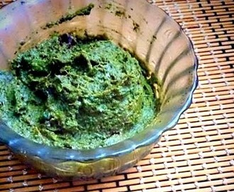 Kothamalli Thogayal   ( Fresh coriander leaves chutney )