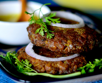 Mutton keema cutlet / patties (without potatoes)- Monsoon special