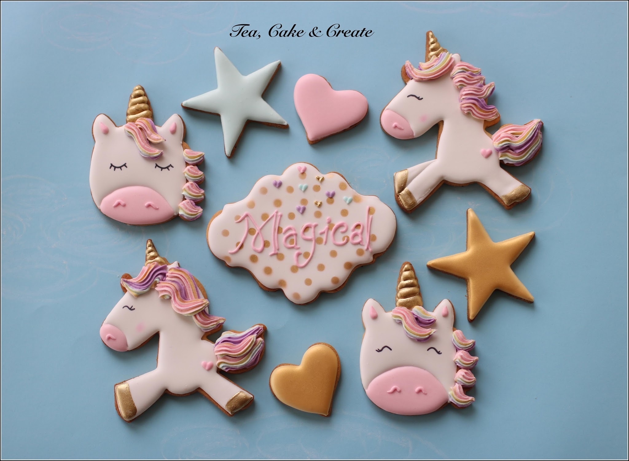 Unicorn Cookies: Gold Lustre