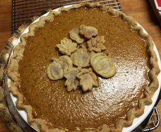 Traditional Pumpkin Pie made with pumpkin puree