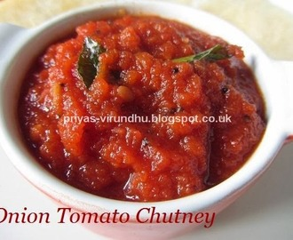 Onion Tomato Chutney [Side dish for idlis, dosas, uthappam, etc]