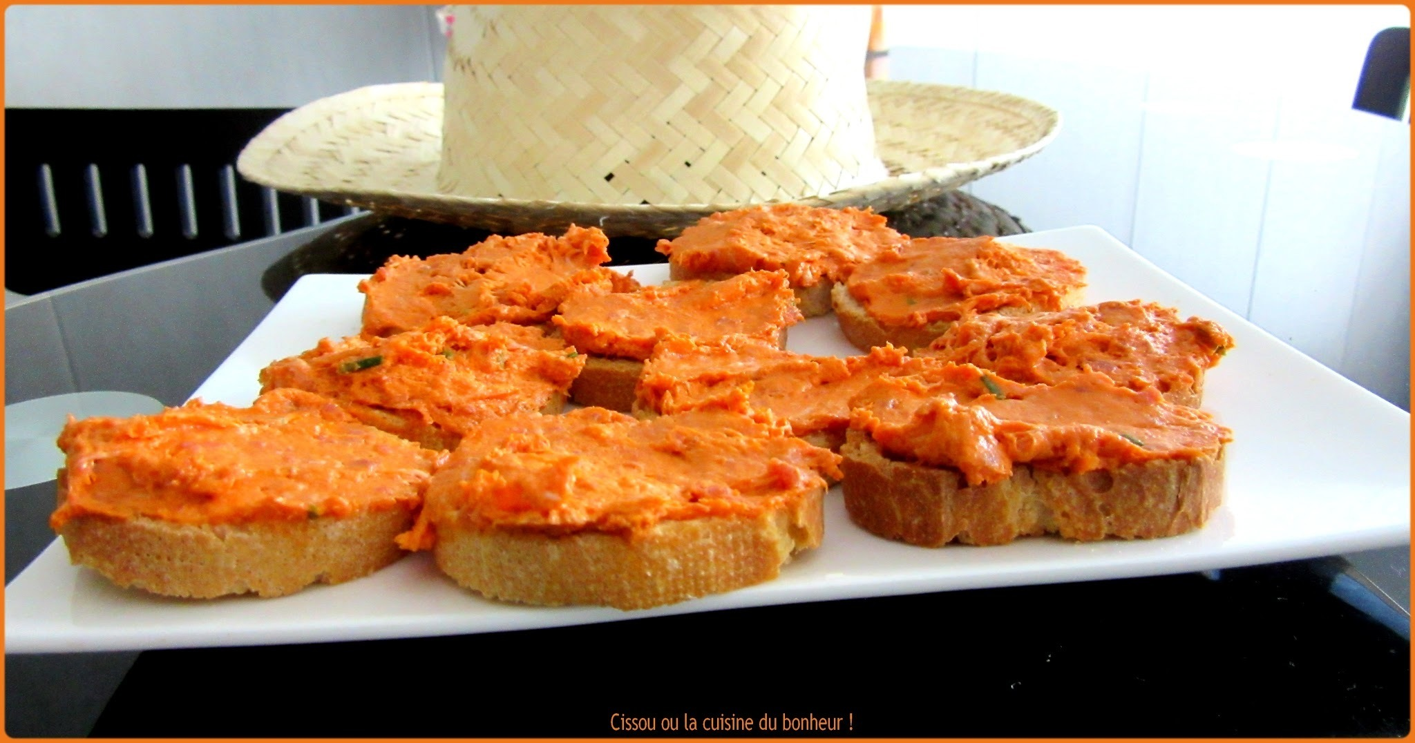 Toasts au chorizo