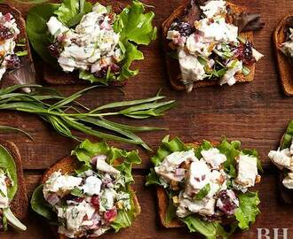 Tarragon Chicken Salad with Cranberries