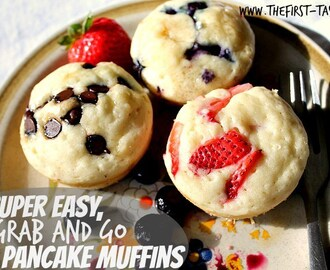 Super Easy, Grab and Go Pancake Muffins