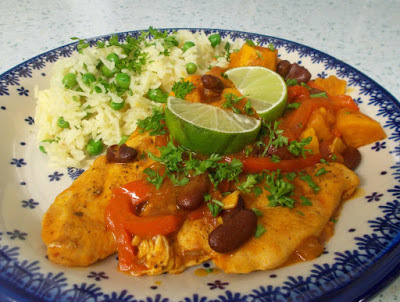 Latin American Chicken - frisky, fruity and delicious