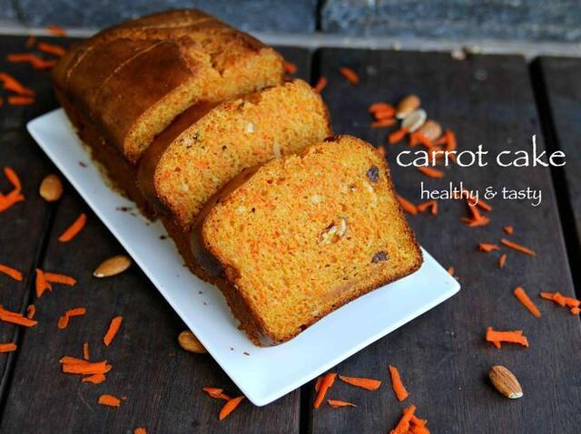 carrot cake recipe | how to make easy eggless carrot cake recipe