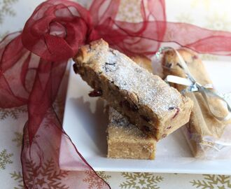 Cranberry Blondies (Gluten-free, Dairy-free, Refined Sugar-free)