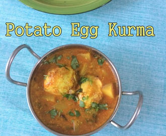 Potato Egg Korma Recipe |  Egg Aloo Khurma | Egg Korma with Coconut | Khurma Recipes For Chapathi | Side dishes for Chapathi