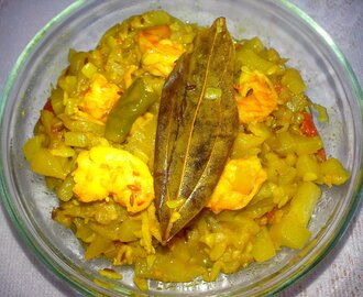 Lau chingri (bottle gourd with prwan) easy steps