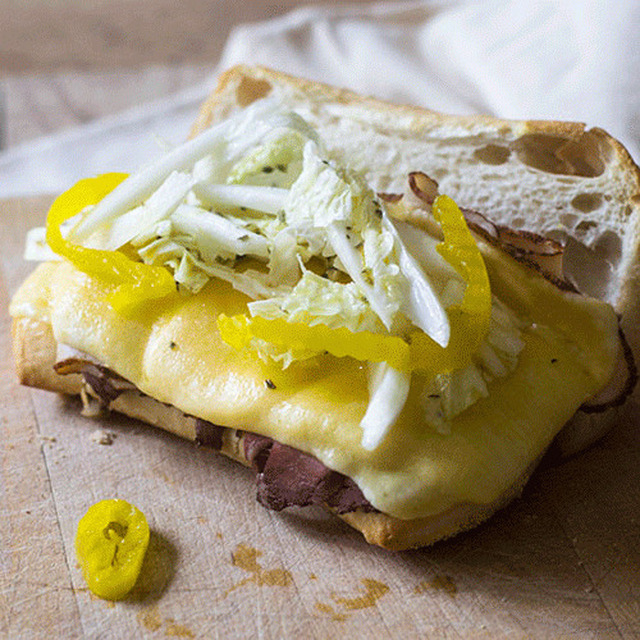 Beef Cheese Hoagie Sandwich