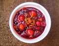 mulled cranberry and orange relish