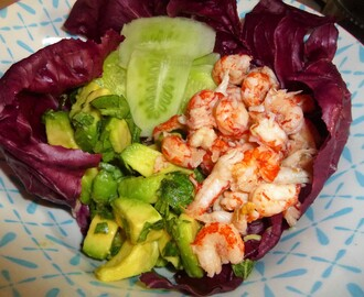 Crayfish, Avocado and Pickled Cucumber Salad Recipe