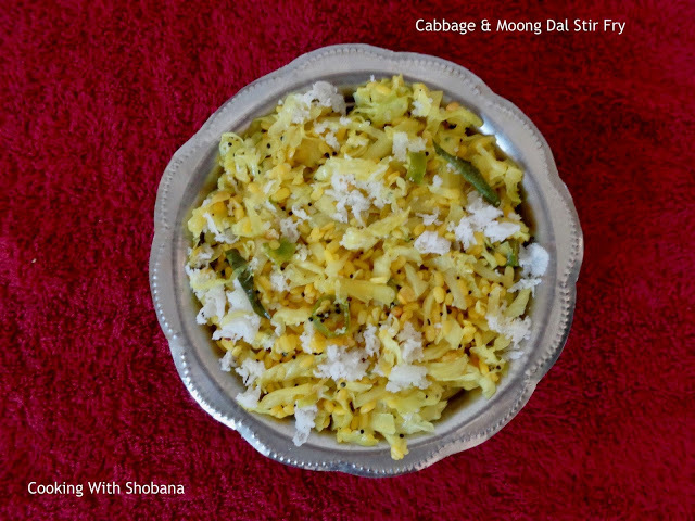 CABBAGE & MOONG DAL STIR FRY
