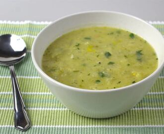 Celery and onion soup