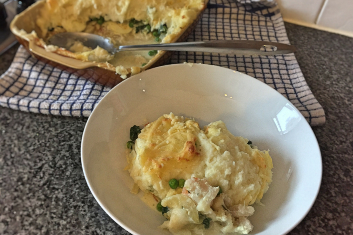 Classic Fish Pie with Mash and Cheese