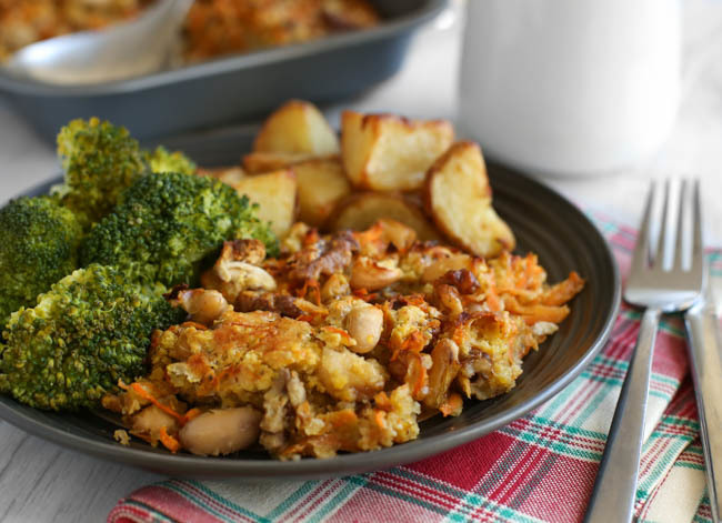 Cheesy carrot nut roast