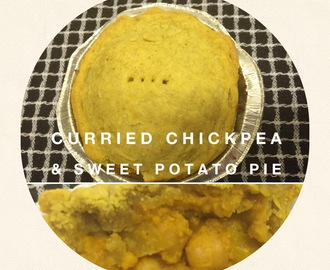 Curried Chickpea & Sweet Potato Pie ( vegan)