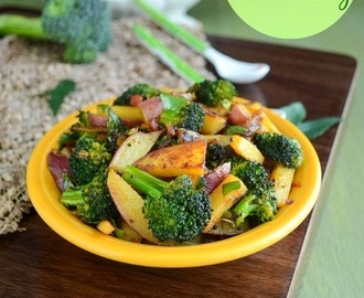 Broccoli Potato Fry / Potato Stir Fry With Broccoli / Potato Varuval With Broccoli