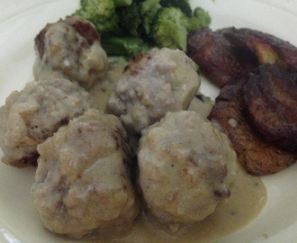Swedish Meatballs w/ Dijon Cream Sauce