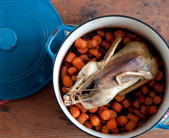 Casserole Roasted Duck with Carrots