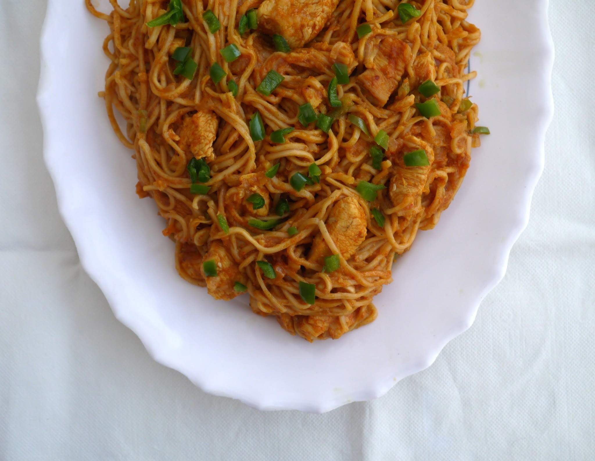 Spicy Chicken Noodles.
