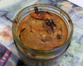 Eggless Bread Pudding in a Jar for a FAT #SundaySupper