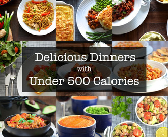 10+ Delicious Dinners with Under 500 Calories