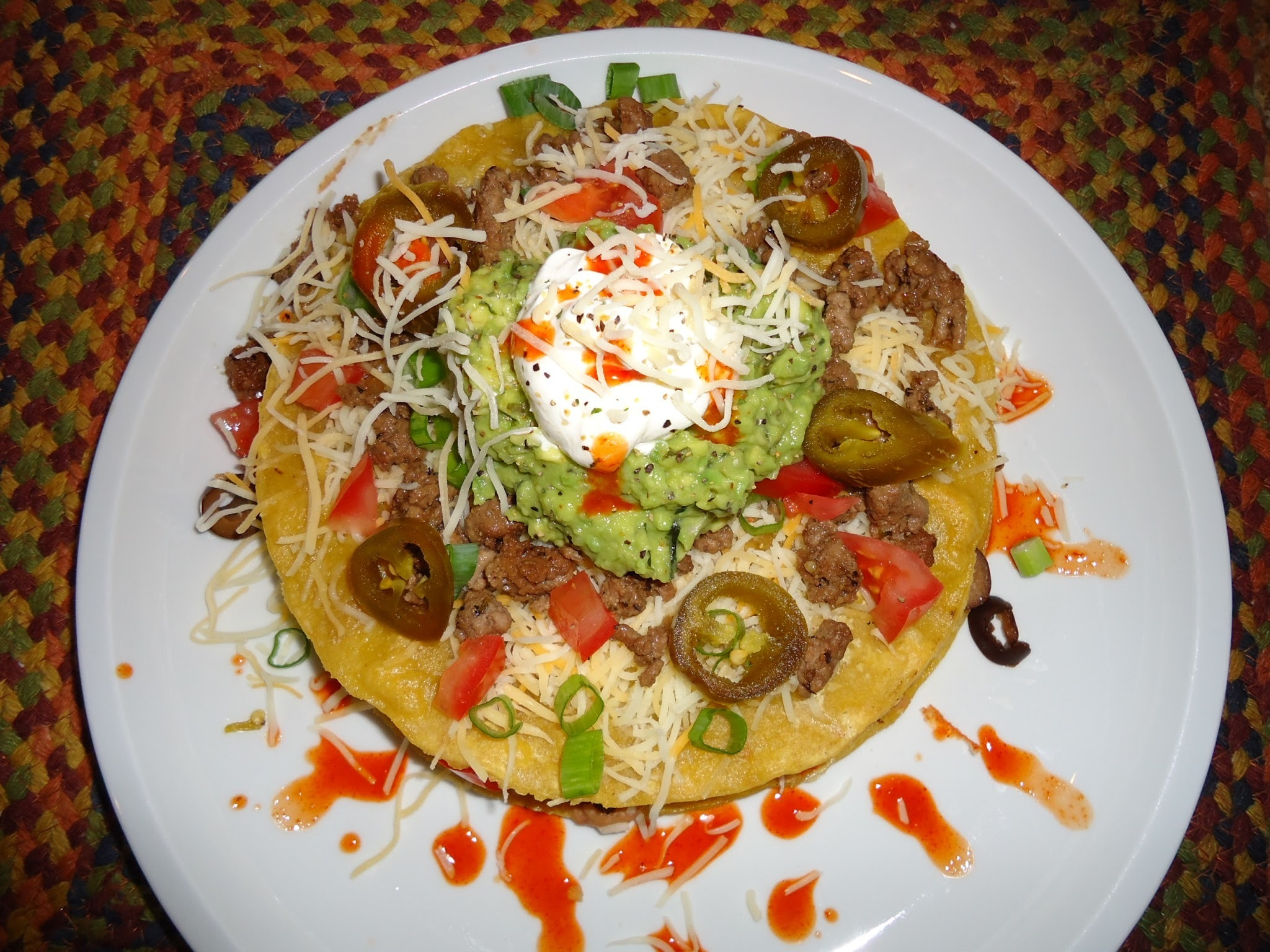Loaded Tostada's...