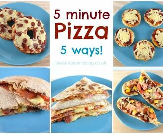 Five Easy Homemade Pizza Recipes